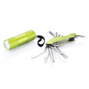 Multitool and torch set Outdoor Quattro