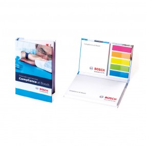Adhesive note pads in hardcover 125x80 mm