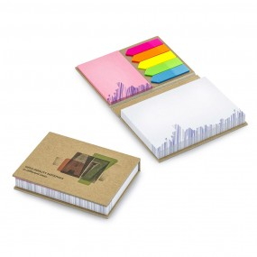 Adhesive note pads in hardcover 80x110 mm