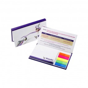 Adhesive note pads in hardcover 160x80 mm