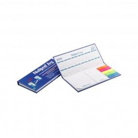 Adhesive note pads in hardcover 185x80 mm