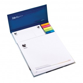 Adhesive note pads in hardcover 215x300 mm