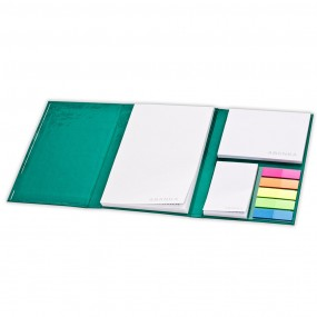 Adhesive note pads in hardcover 105x165 mm
