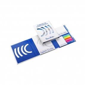 Adhesive note pads in hardcover 130x165 mm