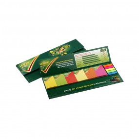 Adhesive note pads in hardcover 360x135 mm