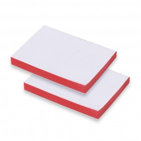 Adhesive note with printed edges
