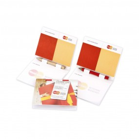 Adhesive note pads with pen (pencil) 85x102 mm