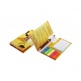 Adhesive note pads with pen (pencil) 85x140 mm