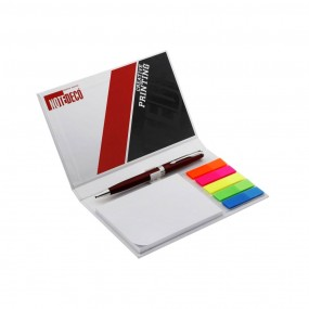 Adhesive note pads with pen (pencil) 160x100 mm in hard cover