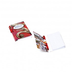 Adhesive note pads with pen (pencil) 80x105 mm