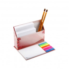 Adhesive note pads table organizer 160x130x110 mm
