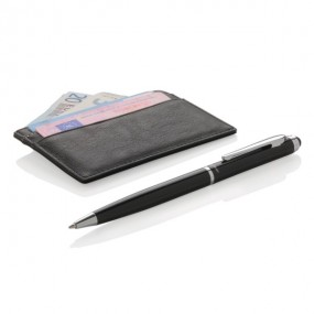 Swiss Peak RFID card holder and pen