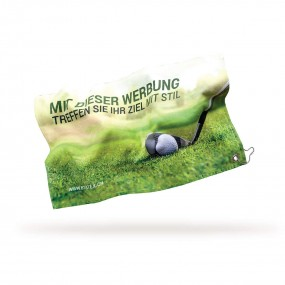 Golf towel with full color print 30x50 cm