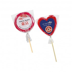 Lollipop with label