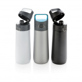 Hydrate leak proof lockable vacuum bottle