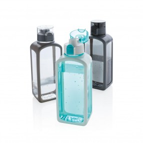 Squared lockable leak proof tritan water bottle